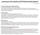Learning on the Lakeshore Breakout Sessions screenshot